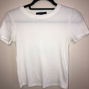 Forever 21 White Cropped Tee